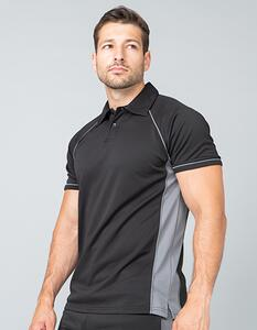 Mens Piped Performance Polo Finden+Hales LV370