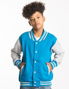 Kids` Varsity Jacket Just Hoods JH043J
