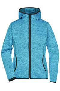Ladies` Knitted Fleece Hoody James+Nicholson JN588
