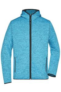 Men`s Knitted Fleece Hoody James+Nicholson JN589