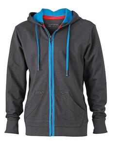 Men´s Urban Hooded Sweat Jacket James+Nicholson JN982