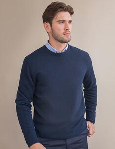 Crew Neck Lambswool Jumper Henbury H735