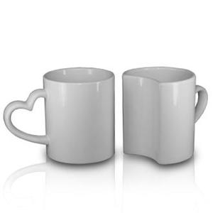 Keramiktasse Lover Mugs (2er Pack) mit Sublimationsdruck