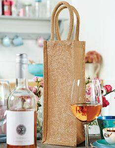 Shimmer Jute Bottle Bag Westford Mill W433