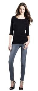 Womens Organic 3/4 Sleeve Stretch T-Shirt EP07 EarthPositive von Continetal Clothing