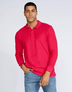 Premium Cotton Adult Double Piqué Polo LS Gildan 85900