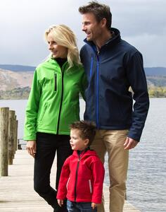 Kids TX Performance Hooded Softshell Jacket Result R224J/Y