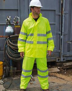 High Viz Waterproof Suit Result R216X