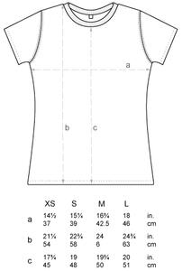 Women´s Slim Fit Jersey T-Shirt N12 von Continetal Clothing